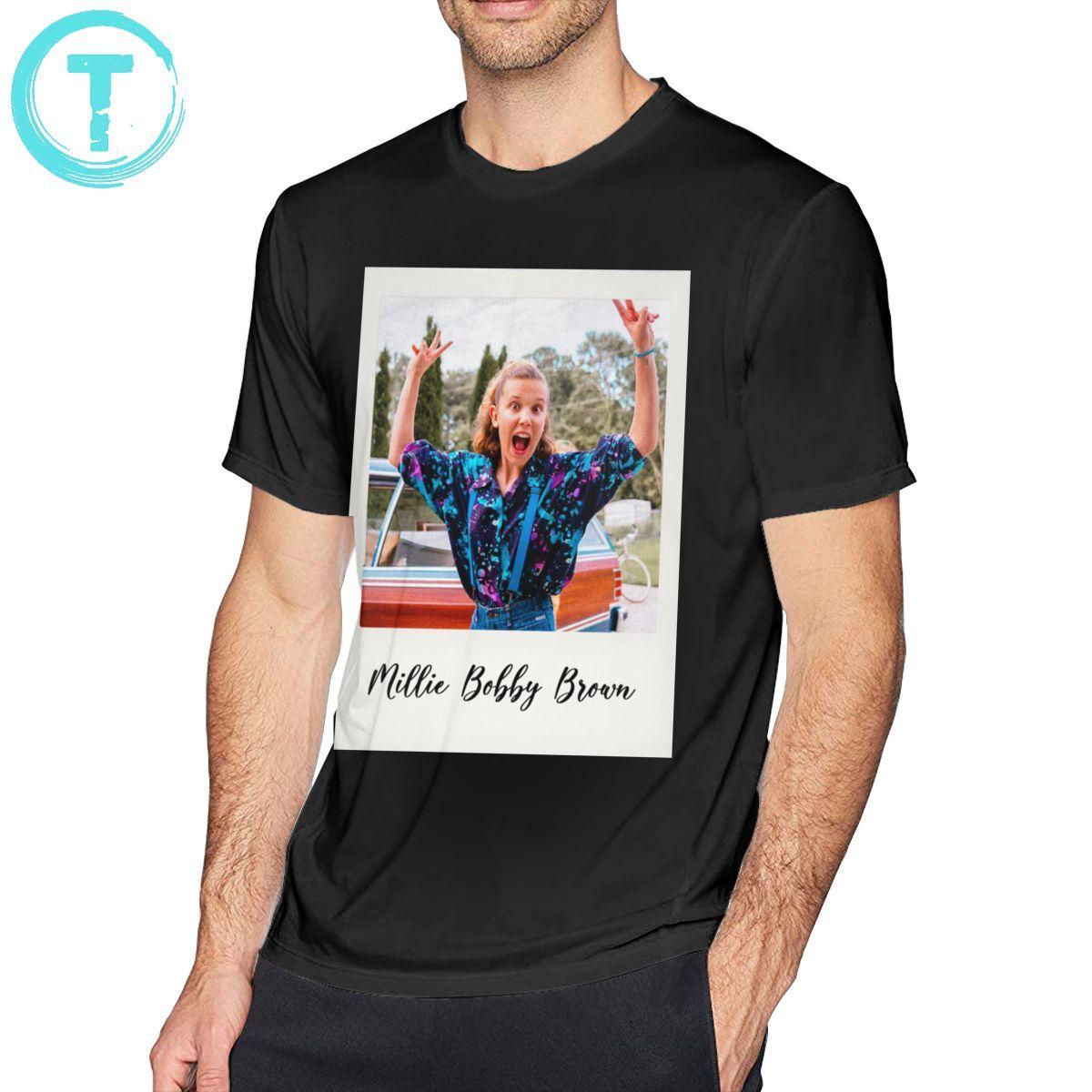 Millie Bobby Brown T Shirt Millie Bobby Brown Polaroid T Shirt Basic Short Sleeves Tee Shirt Plus Size Tshirt T Shirts Aliexpress