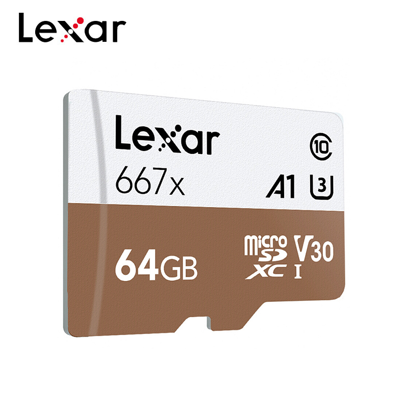 Original Lexar Professional 667x Micro SD Card 128GB 64GB 256GB MicroSDXC Memory Card A2 C10 V30 1080p Full-HD 3D 4K TF Card