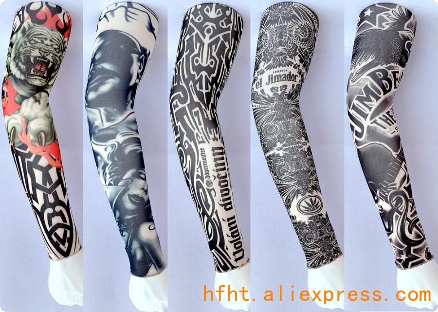 Tiger Removable Tattoo Cover (Seamed), Outdoor Sports Riding Sunscreen Arm Warmers HT120-124,  Length47CM