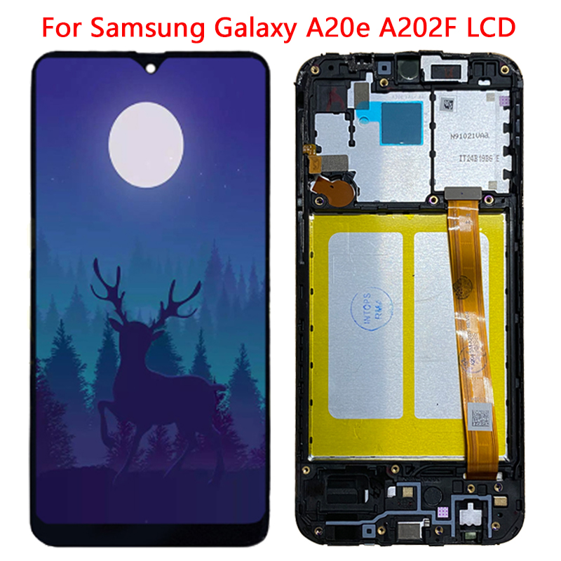 5.8'' <font><b>A20e</b></font> LCD For <font><b>Samsung</b></font> <font><b>Galaxy</b></font> <font><b>A20e</b></font> LCD Display With Frame Assembly Digitizer For <font><b>SM</b></font>-<font><b>A202F</b></font> A202DS <font><b>A202F</b></font>/DS LCD Repair Parts image