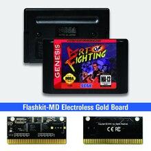 فن القتال الولايات المتحدة الأمريكية تسمية flash kit MD بطاقة الذهب ثنائي الفينيل متعدد الكلور ل Sega نشأة megadve لعبة فيديو وحدة التحكم
