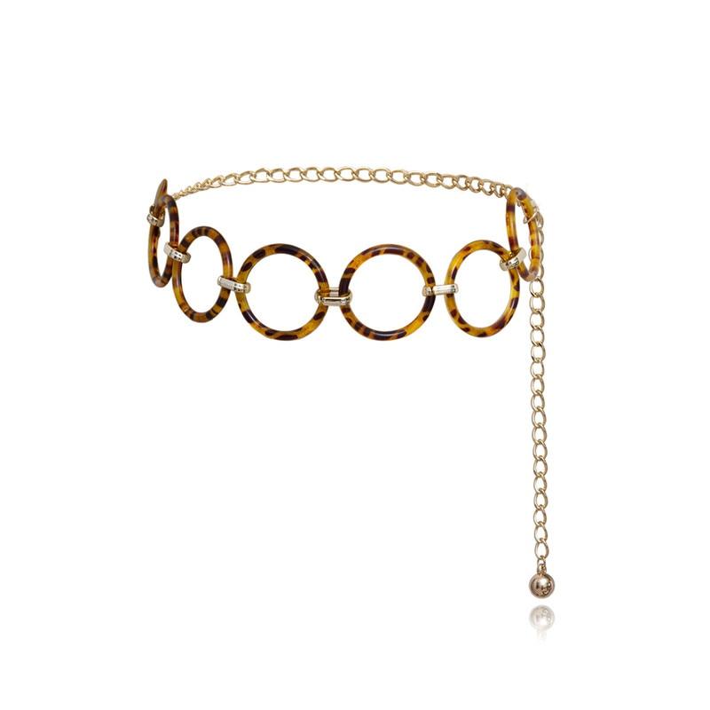 Купить женский леопардовый ремень с кисточками украшенный кругом новый