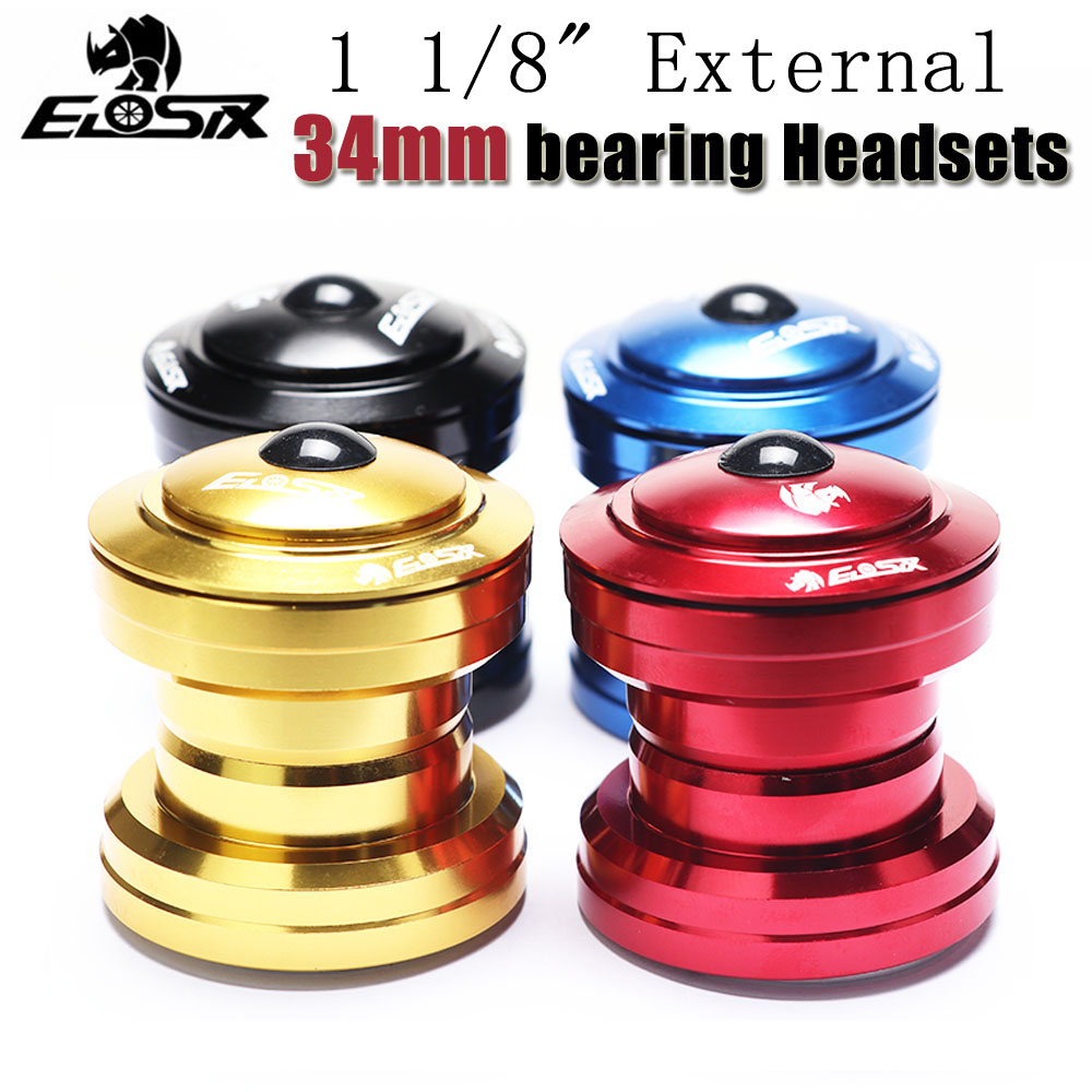 "1 1/8"" 34MM MTB Bike Headset Bearings Top Cap Cover Spacer Mountain Bicycle Threadless External Sealed Cartridge Stem 28.6 Fork(China)"