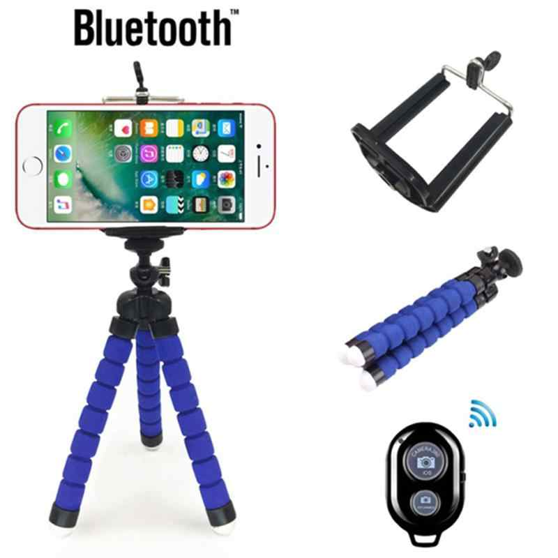 Studyset Portable Adjustable Tripod Mini Universal Gurita Kaki Gaya Bluetooth Selfie Stick Studyset Tripod untuk Iphone Kamera