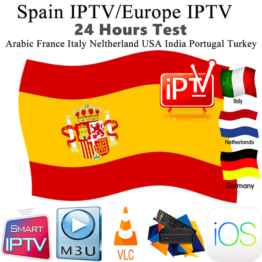 Spain IPTV M3U Subscription Europe Germany Spain Greece Sport Live TV VOD Movies with XXX support Smarters IPTV Pro Android Mag image
