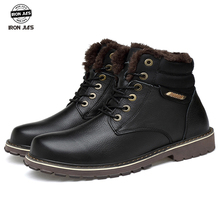 Natural Wool Men Winter Motorcycle boots Warmest IRON JIAS Genuine Leather Handmade motorcycle shoes