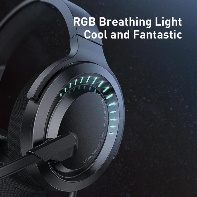 Baseus D05 3D Stereo Gaming Headphone USB/Type-C Colorful LED Light 4