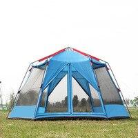 Ultralarge 6-12 uso da pessoa ultraleve à prova dwaterproof água proteção uv barraca de acampamento ao ar livre grande gazebo sol abrigo carpas de acampamento