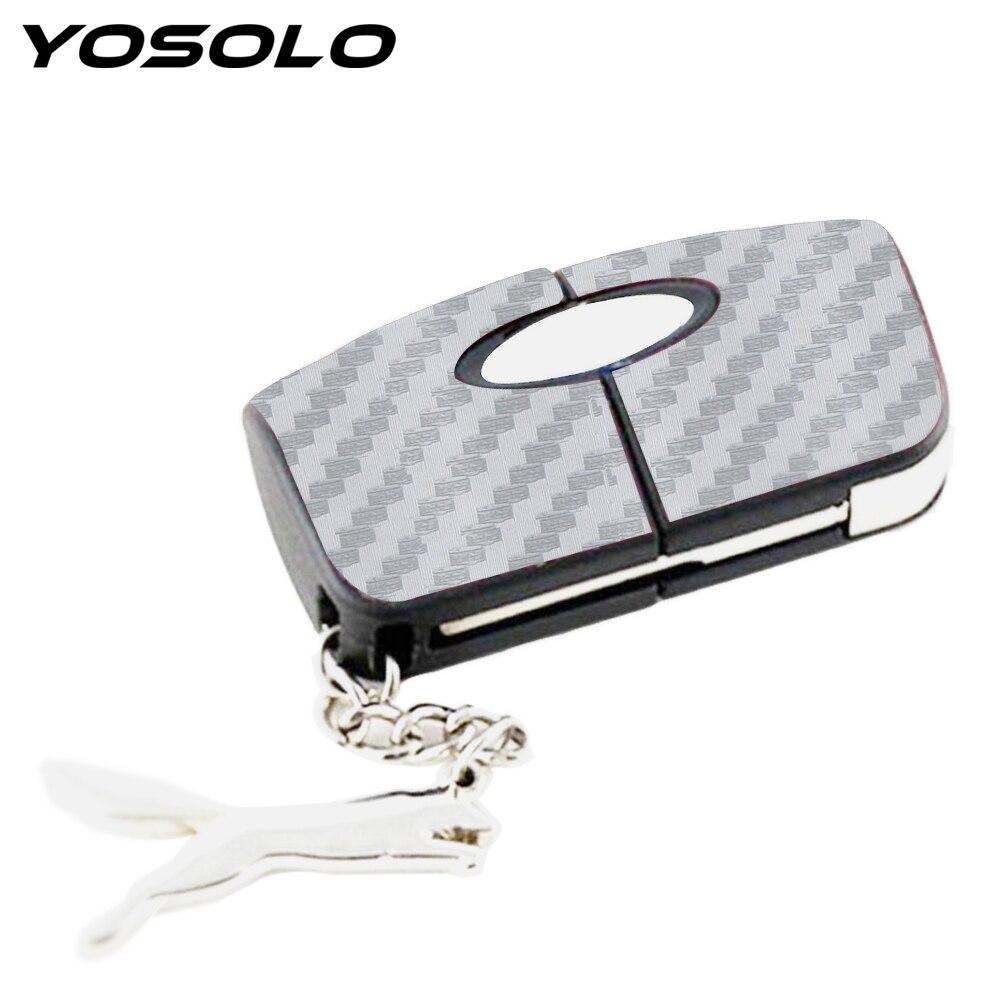 YOSOLO 1pcs Key Sticker For Ford Focus Special Size Car Sticker Carbon Fiber Protection Interior Accessories