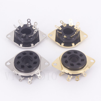 10PCS Bakelite 8Pins Tube Socket GZS8-E Electron Tube Socket KT88 6SN7 6N8P 6550 7199 EL34 Vacuum Tube DIY HIFI Audio Amplifier image