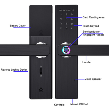 Biometrische Vingerafdruk Slot Wifi Smart Deurslot 2