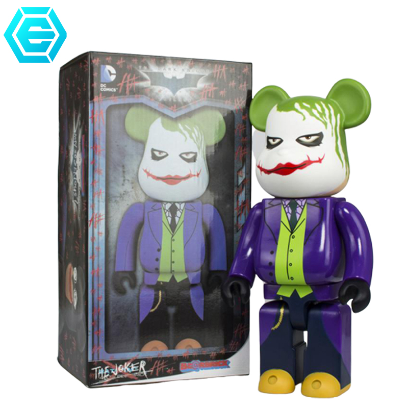 28cm 11Inch Bearbrickly 400% JOKER PVC Action Figure Toys Decoration Models Gifts and collections