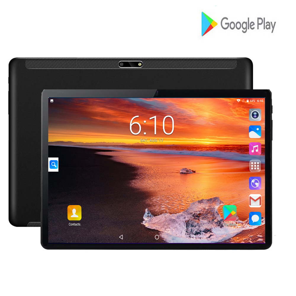 Fast Shipping 10 Inch Tablet Pc Android 7.0 Core 2GB+32GB 2.5D IPS Screen Dual SIM Cards GPS WIFI Smart Video Tablets 10.1