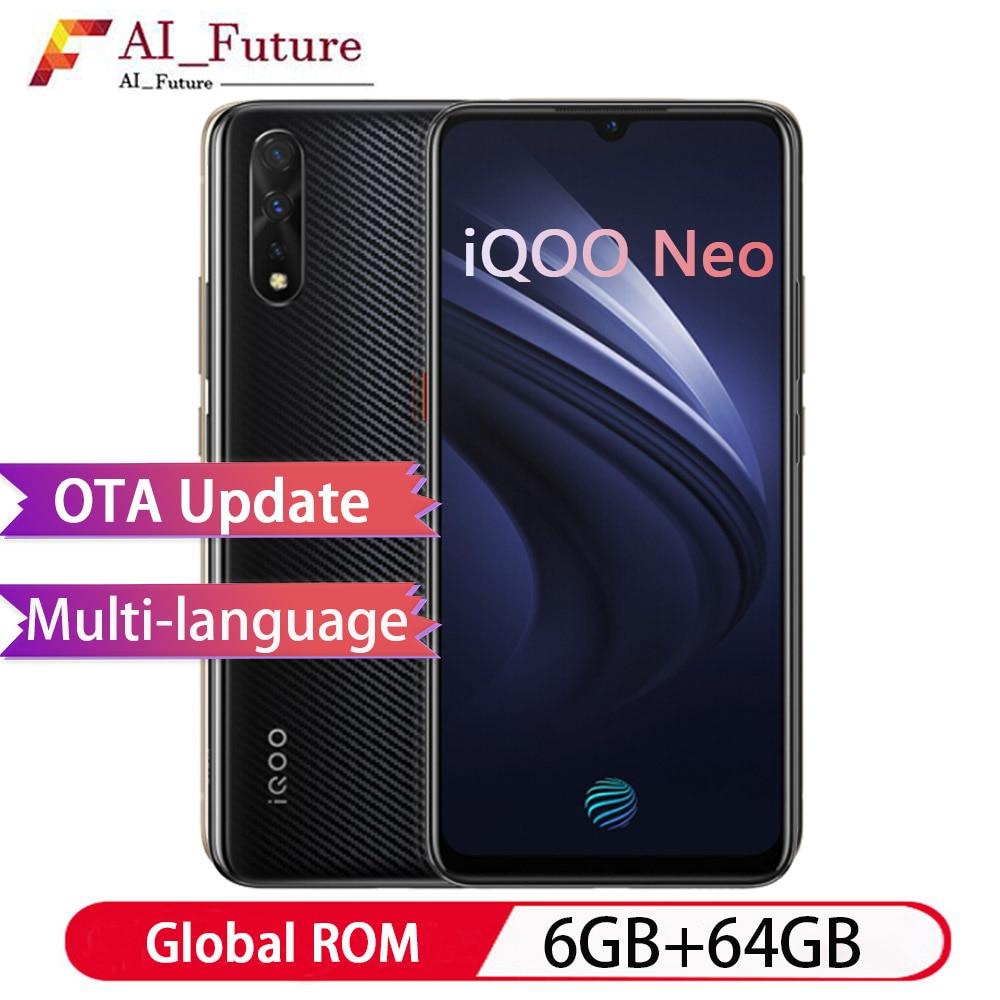 "Original Vivo IQOO NEO Mobile Phone celular 8GB 128GB Snapdragon 845 Android 9.0 6.38"" FHD 2340X1080 3Cameras 4500mAh Smartphone"