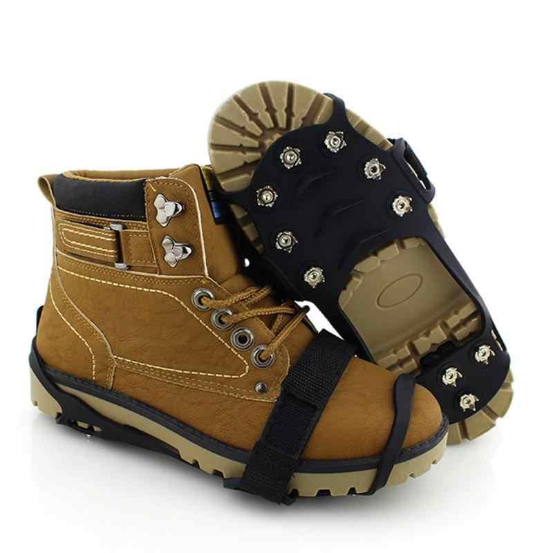 11 гвоздей ледяные поплавки захват для обуви снегоступы противоскользящие ледяные Захваты походные бутсы шипы тяги ледяная обувь с заклепками сцепление