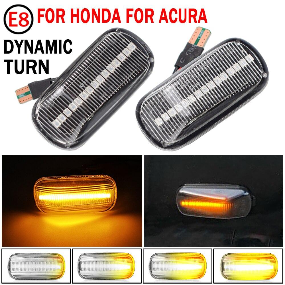 Luces LED de posición lateral para Honda, lámpara de señal de giro para Honda CRV Accord Civic City Fit Jazz Stream HRV S2000 Odyssey Integra RSX NSX