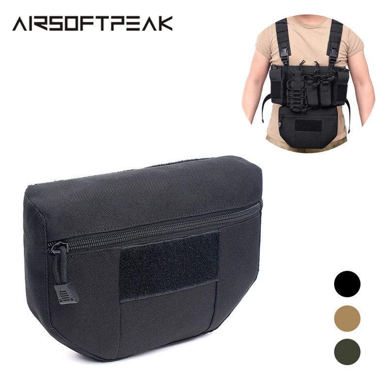 Tactical Armor Carrier Drop Pouch Outdoor Waist Bag Pouches EDC Combat Army Tactical Vest Backpack Hunting Magazine Pouch JPC