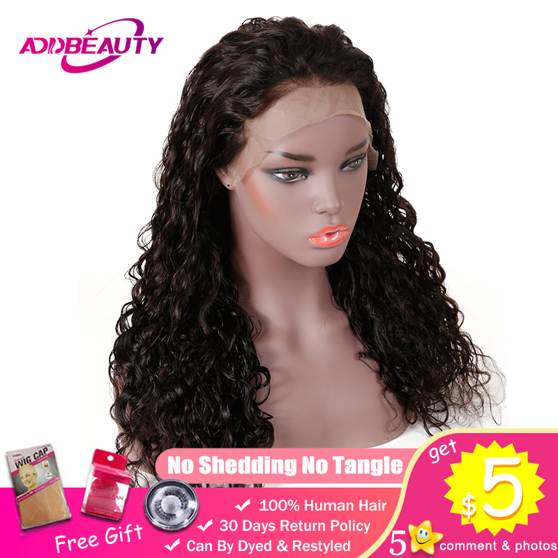 13x4  13x6 Lace Front Wigs For Black Women Brazilian Water Wave Pre Plucked Human Hair Remy Natural Hairline 130% Density