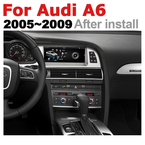 Image 3 - Car Radio 2 din GPS Android Navigation For Audi A6 4F 2005~2009 MMI AUX Stereo multimedia touch screen original style radio