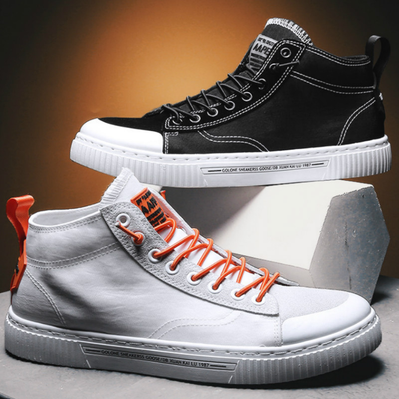 High Top Sneakers Men Breathable Fashion Vulcanize Shoes Casual Breathable Wild Canvas Tenis Masculino Zapatilla Hombre D7-46