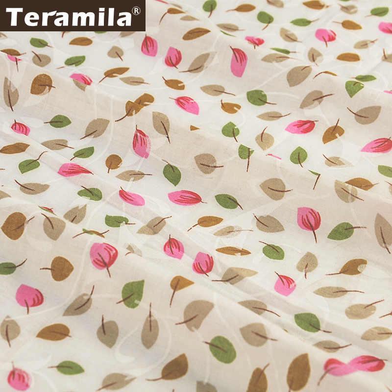 Teramila 素敵な葉デザイン綿 100% 生地縫製布テキスタイルアートワークパッチワーク Telas Tecido ティッシュ Diy 針仕事