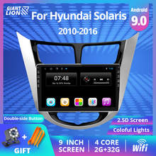 2Din Android 9 0 Car Radio For Hyundai Verna Solaris Accent Car Navigation Radio Stereo Video Multimedia 2010-2016 DVD Player cheap TIEBRO Double Din 4*45W Android 8 1 JPEG Plastic + aluminum gold 1024*600 1 7kg Bluetooth Built-in GPS Charger Mobile Phone