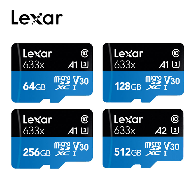 Lexar 95MB/s 512GB Micro Sd Card 16GB 32GB 64GB 128GB 256GB SDXC/SDHC Flash Memory Card Micro Sd  For Gopro/DJI/Nintendo Switch