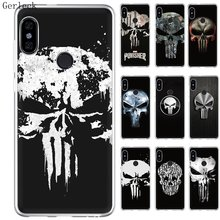 Funda para teléfono móvil Gereleek para Xiaomi Redmi Note 3 4 4X7 5 Pro 5A Prime funda dura carcasa templada de Marvel The Punisher(China)
