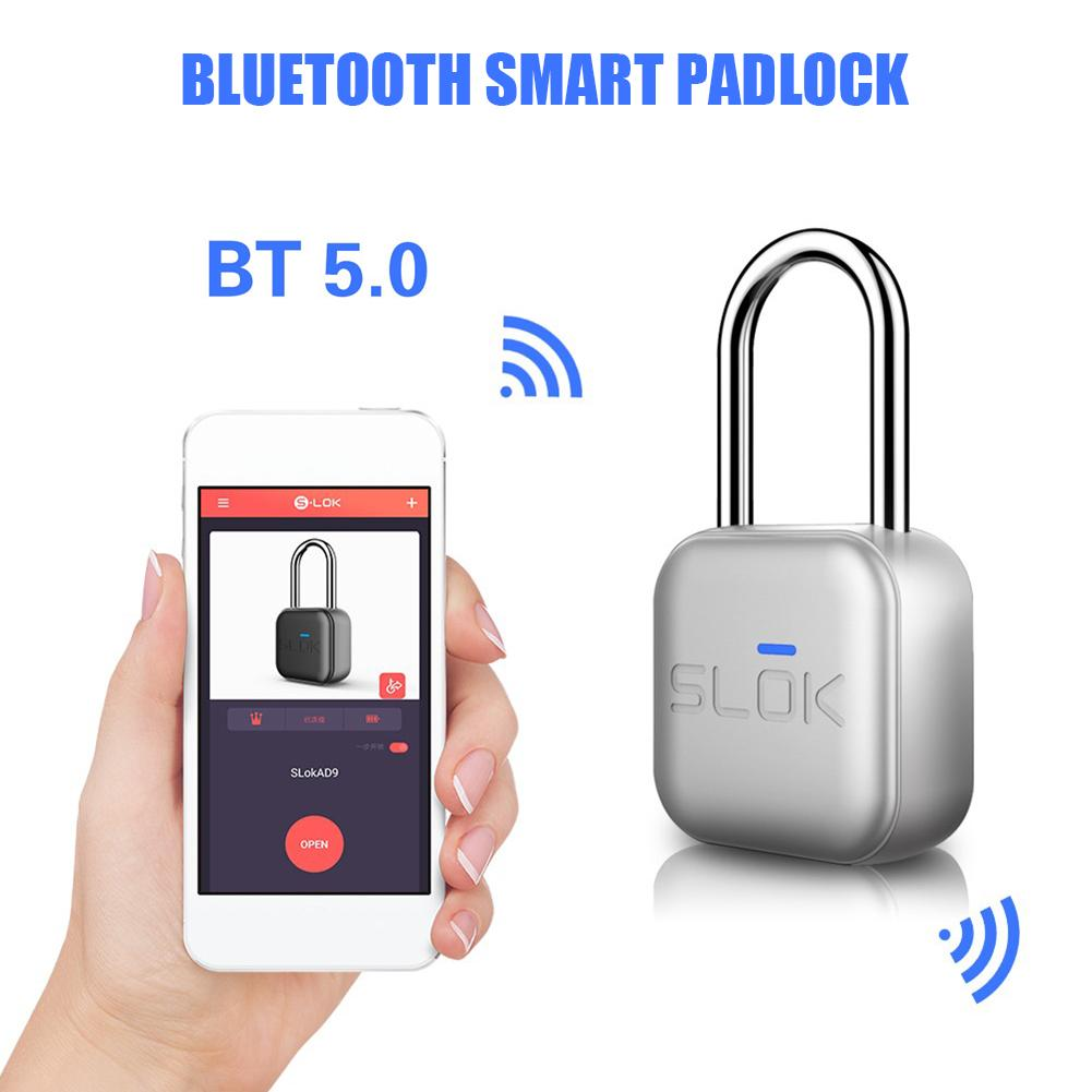 Bluetooth Electronic Door Lock Castle Fingerprint Door Locker Remote Control Keyless Padlock For Android IOS App Control