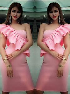 Ocstrade Bandage Dress Pink Big-Sale Women Sexy High-Quality Summer 10th Anniversay Up-To-90%Off