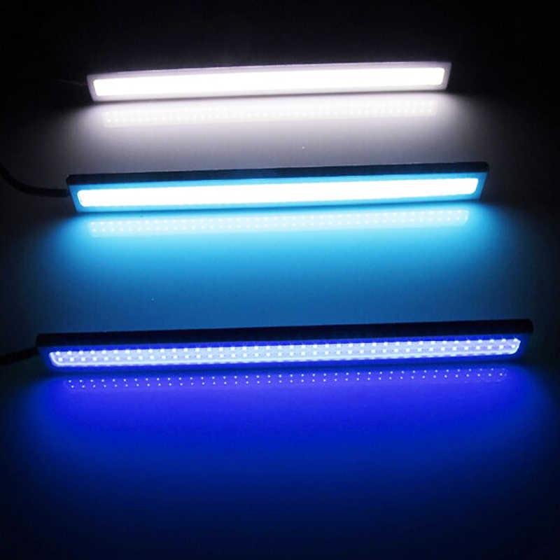 1 piezas 17cm universal día luces COB DRL faros LED luces exteriores coche impermeable forma del coche LED DRL luces