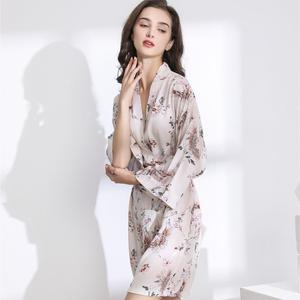 Image 5 - חדש קימונו חלוק חלוק רחצה נשים ויסקוזה שושבינה גלימות סקסי הדפסת גלימות ויסקוזה Robe גבירותיי הלבשה שמלות