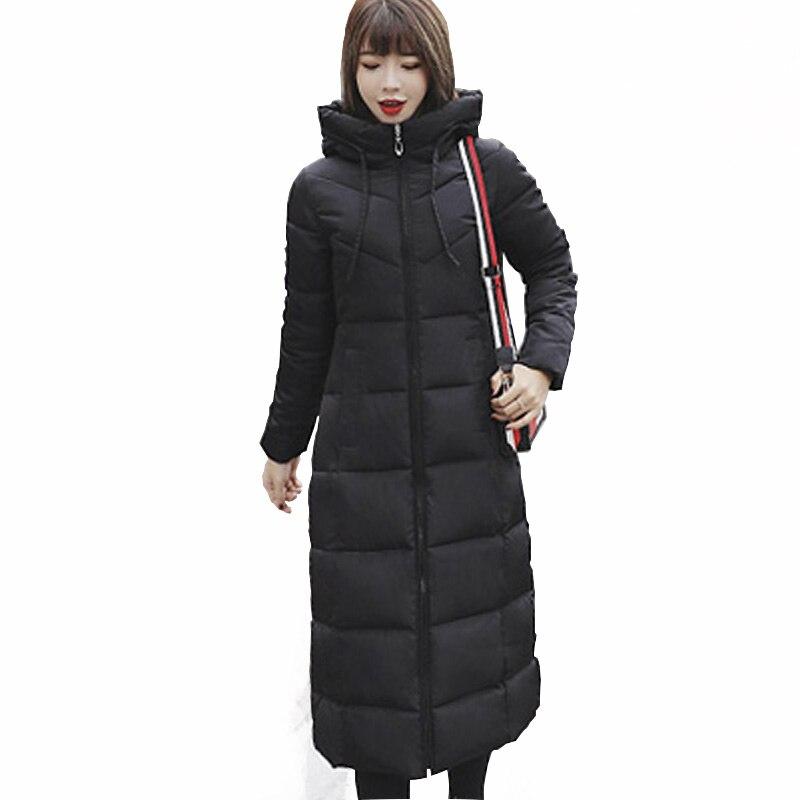 Mandadi Women Winter Jackets 2018 Fashion Long Slim Thicken Warm Jacket Down Cotton Padded Jacket Outwear Parkas Plus Size 6XL