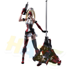 Play Arts Kai Harley Quinn VARIANT Tetsuya Nomura PVC Movable Figure Toy Collection In Box 26cm 26cm wolverine figure logan x men x men play arts kai wolverine james logan howlett play art kai pvc action figure