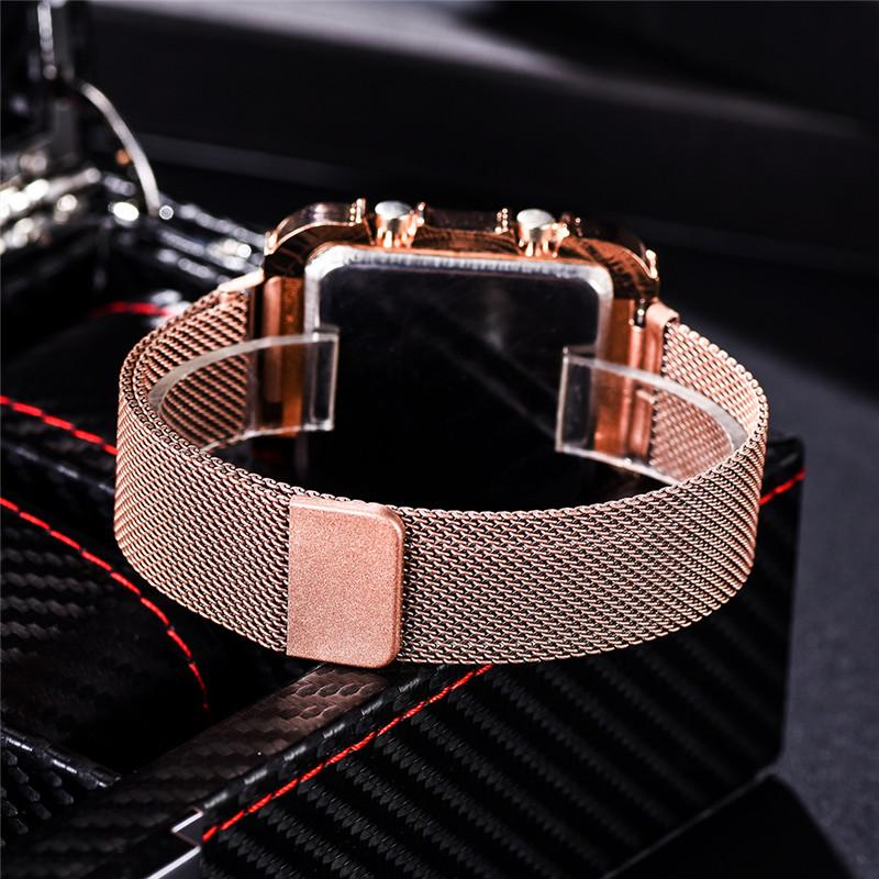 Fashion Women Magnet Buckle Gifts Watches Luxury Stainless Steel Mesh Band Female Wristwatches Casual Magnetic Woman 2020 Clock 6