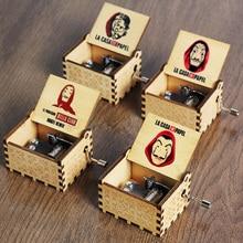 Music-Box Hand-Crank Casa-De-Papel Wooden Bella Ciao Mom-Moon River Queen Antique Christmas-Gifts