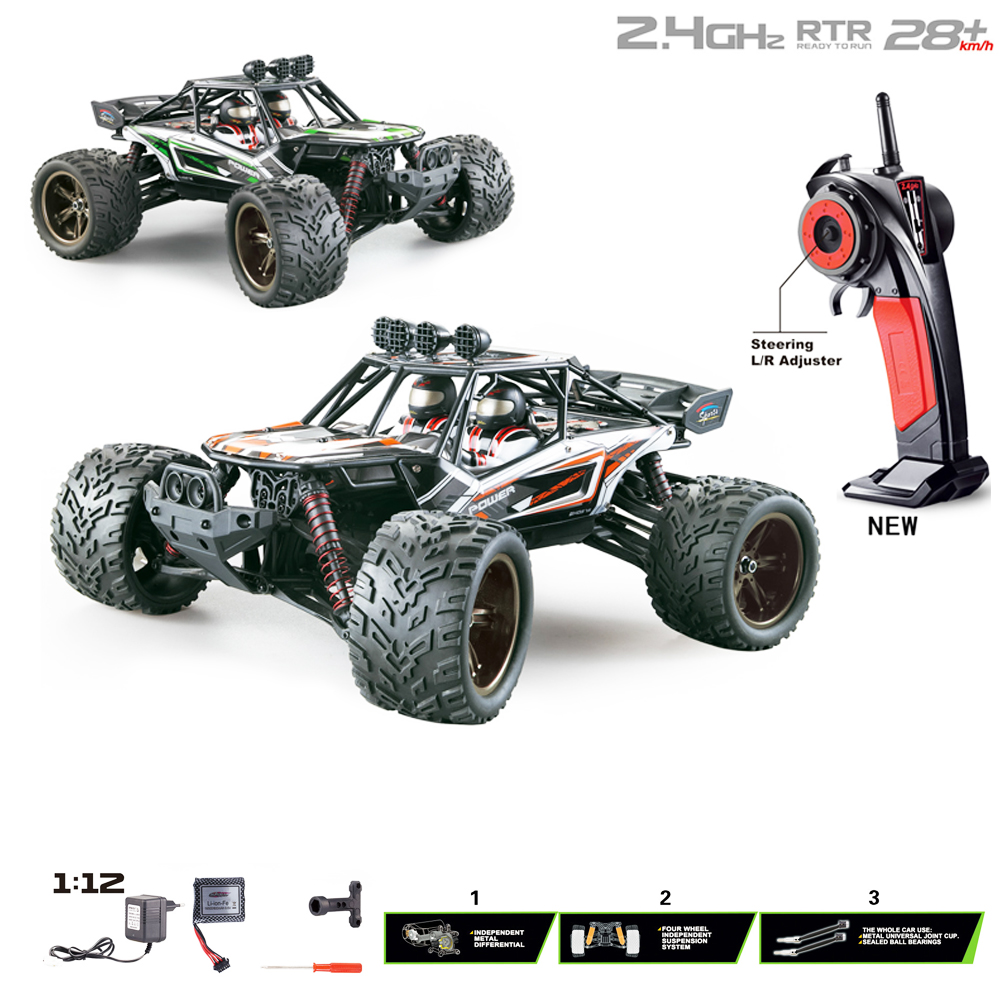 RC Cars 9120 2.4G 1:12 Full Proportion Racing Car Desert Truck Off-Road Vehicle Buggy Electronic Toys For Kids Gifts
