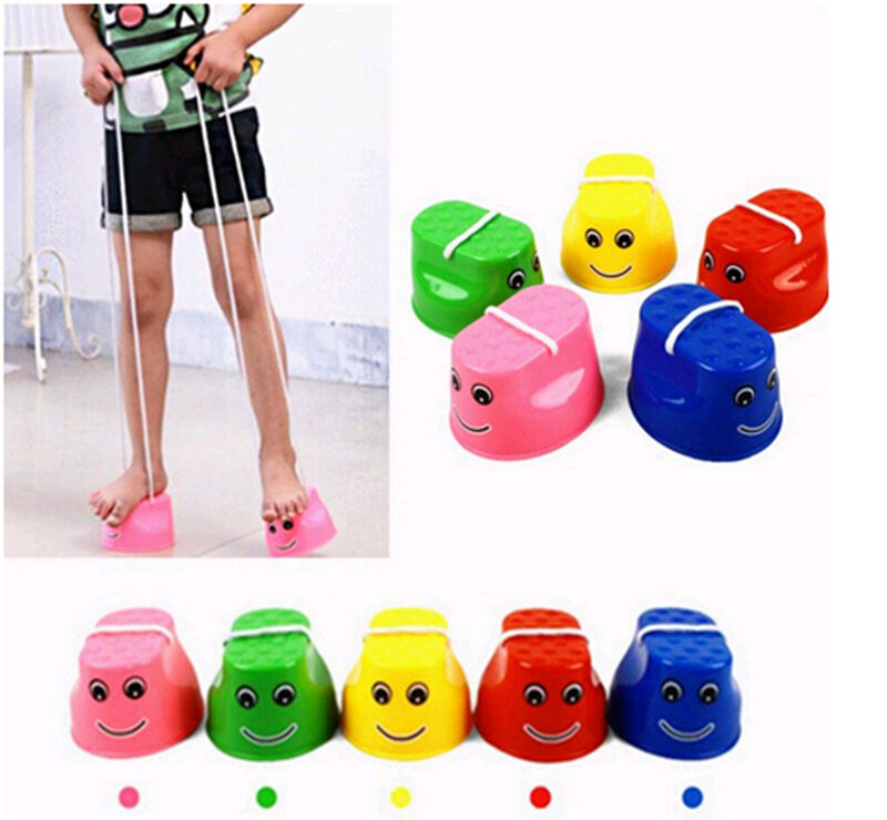 1PC Adorable Stilt Walk Stilt Jump Outdoor Fun Education Sports Toy For Kid Children