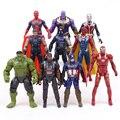 Фигурки из ПВХ  Мстители  Infinity War  Железный человек  MK50  Thanos  Hulkbuster  Человек-паук  Falcon  Hulk  набор