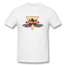 2019 Mens Basic Short Sleeve T-Shirt 3D Print t shirt Fishing Fisherman The Island Alone Cotton Funny Top Tees