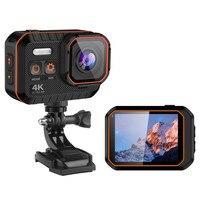 Nova câmera esportiva ultra ação 4k com controle remoto, à prova d'água, mini câmera com capacete dv e wifi
