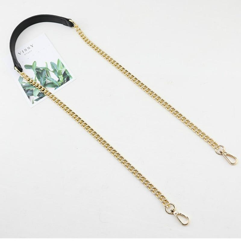 Women's bag accessories shoulder belt leather chain decompression belt one shoulder oblique across plus chain bag strap belt