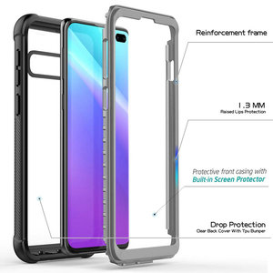 Image 5 - Crystal Back Panel 360 Protection For Coque Samsung S20 Ultra Case Samsung Galaxy Note 20 Ultra Note 10 Plus S10 e Note20 Bumper