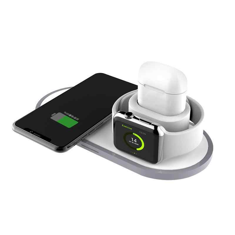 GloryStar 3-in-1 Wireless Charger for Apple iWatch/iPhone/AirPods Charging Station Dock Holder Travel Fast Charging