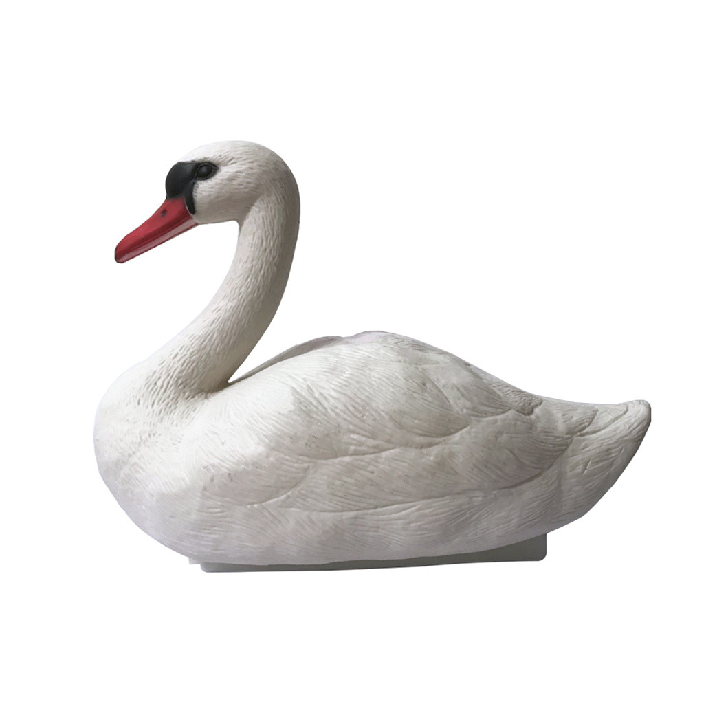 Garden Sculpture Home Accessories Realistic Outdoor Simulation White Swan Pond Decoration Landscape Crafts #Zer