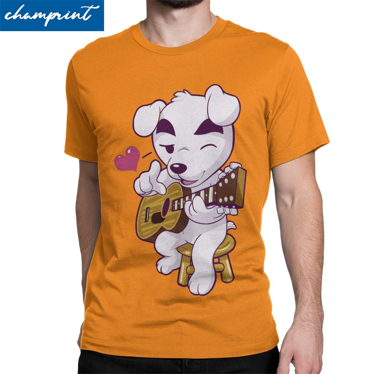 Men T-Shirt This Song Is For You Funny Pure Cotton Tee Shirt Animal Crossing Video Games T Shirts O Neck Clothing Plus Size image