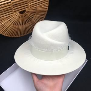 Image 3 - summer fashion m fedoras white female hat high quality lace sun shading sunscreen wool Panama