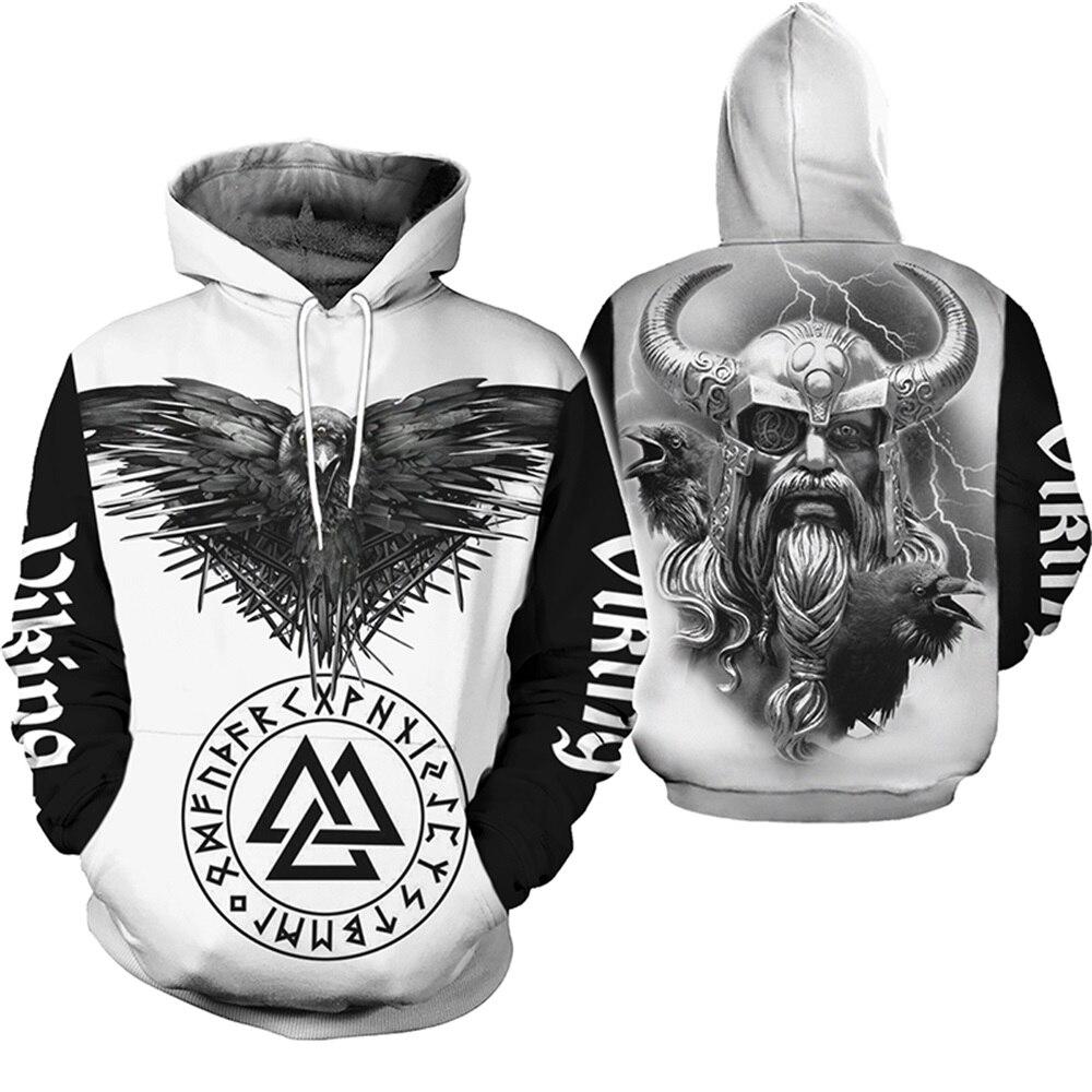 PLstar Cosmos Viking Warrior Tattoo New Fashion Tracksuit Casual 3DfullPrint Hoodie/Sweatshirt/Jacket/Mens Womens Style-31