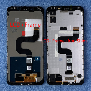 "Image 1 - 원래 Axisinternational 5.99 ""Xiaomi Mi A2 MIA2 LCD 디스플레이 화면 + Mi 6X MI6X M6X 용 프레임이있는 터치 패널 디지타이저"