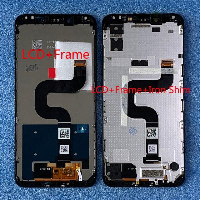 """원래 Axisinternational 5.99 """"Xiaomi Mi A2 MIA2 LCD 디스플레이 화면 + Mi 6X MI6X M6X 용 프레임이있는 터치 패널 디지타이저"""